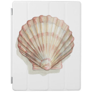 Pink and Cream Seashell iPad Cover