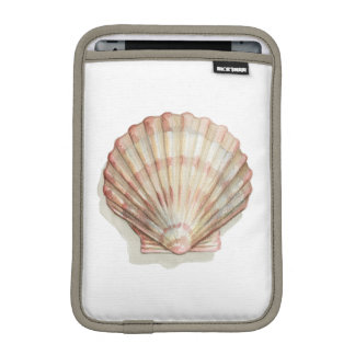 Pink and Cream Seashell iPad Mini Sleeve