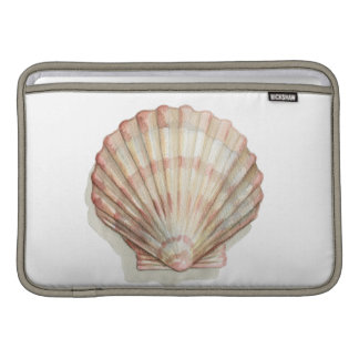 Pink and Cream Seashell Sleeve For MacBook Air