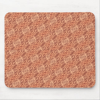 pink and cream wallpaper pattern mouse pad
