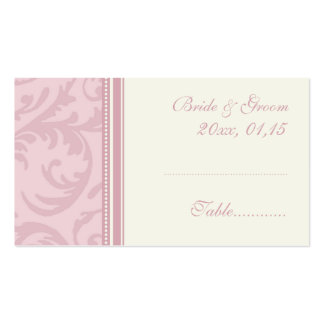 Pink and Cream Wedding Table Place Setting Cards Pack Of Standard Business Cards