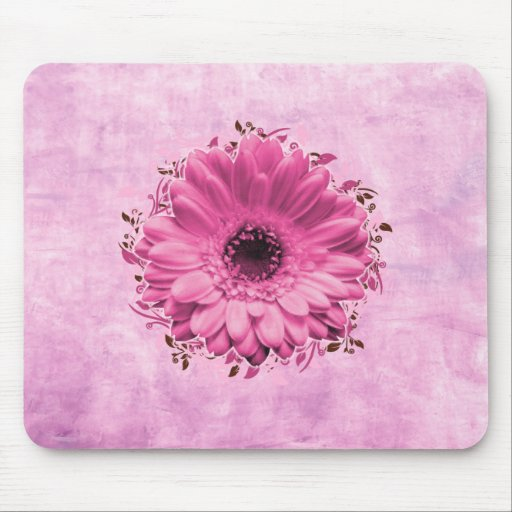 Pink And Flower mousepad