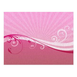 Pink and Fuscia Floral Burst Postcard
