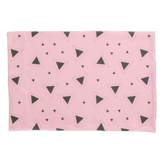 Pink and geometric pattern Pillowcase