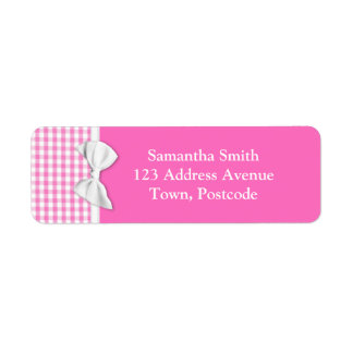 Pink and girly gingham with ribbon bow