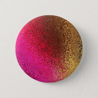 Pink And Gold Abstract 6 Cm Round Badge