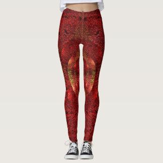 Pink and Gold Beautiful Pattern Art Leggings