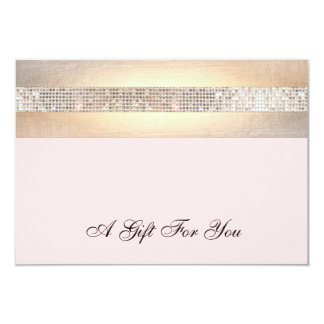 Pink and Gold Beauty Salon Gift Certificate 9 Cm X 13 Cm Invitation Card