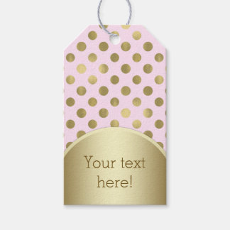 Pink and Gold Birthday Party Baby Shower Gift Tags