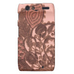 Pink And Gold Bohemian Paisley Droid RAZR Cases