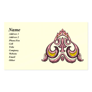 Pink and Gold Celtic Art Business Cards