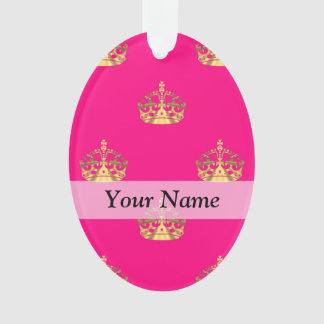 Pink and gold crown pattern
