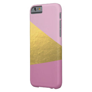 Pink and Gold Geometric iPhone Case
