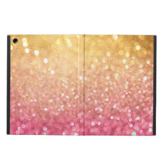 pink and gold glitter look iPad air case