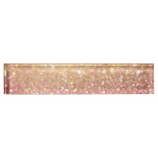 pink and gold glitter look name plate