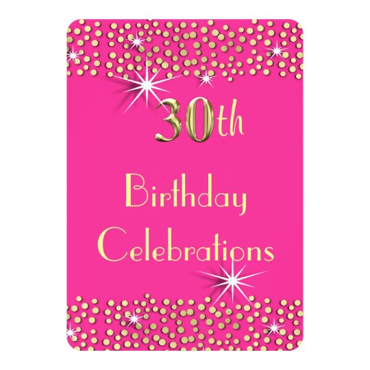 Pink and Gold Glitzy Sparkle 30th Birthday Party