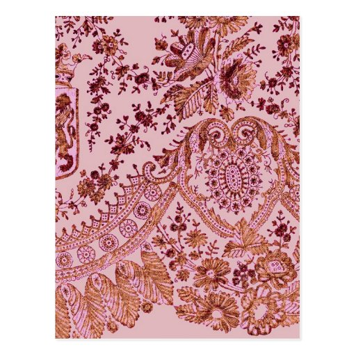 Pink And Gold Lace Postcards