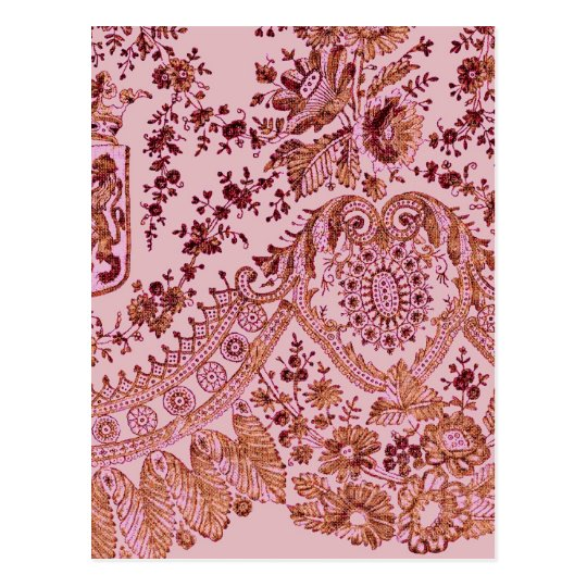 Pink And Gold Lace Postcard