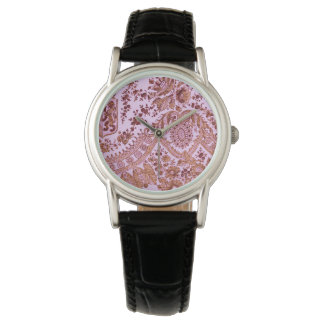 Pink And Gold Lace Wristwatch