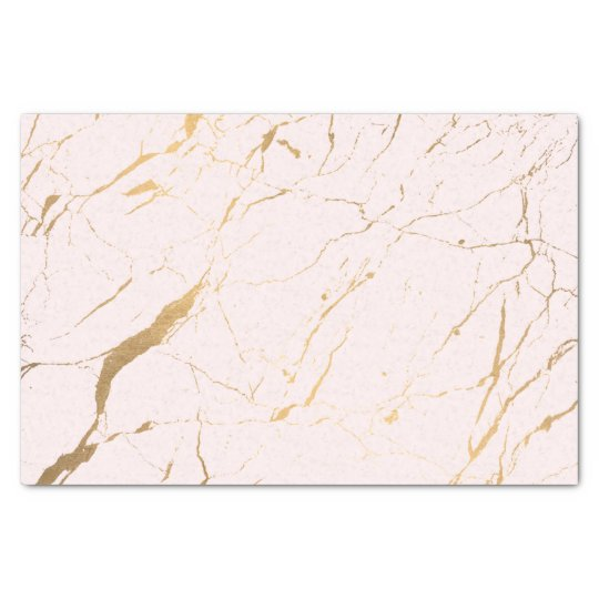Pink and Gold Marble Designer Tissue Paper