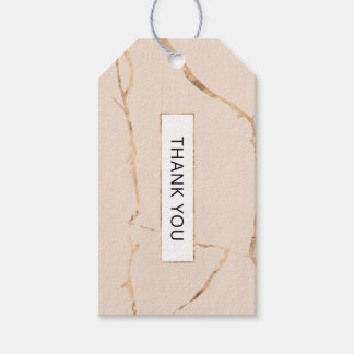 Pink and gold marble gift tag / favor tag