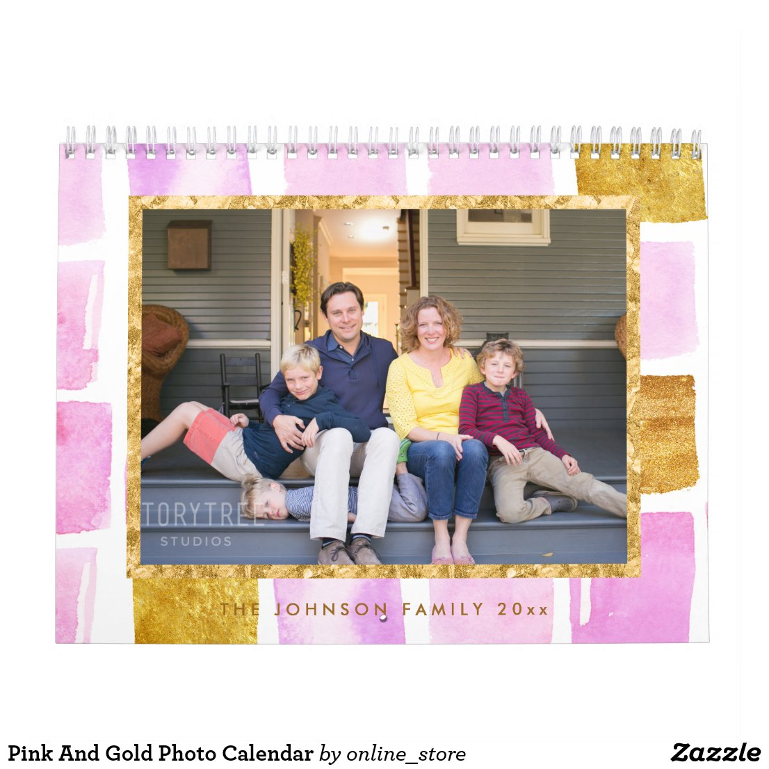Pink And Gold Photo Calendar
