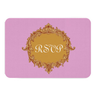 Pink and Gold RSVP Wedding Response Card