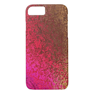 Pink and Gold Shimmer iPhone 7 case