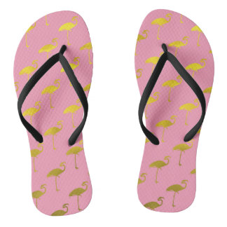 PINK AND GOLD SLEEPER FLIP FLOPS