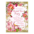 Pink and Gold Tea Party Card