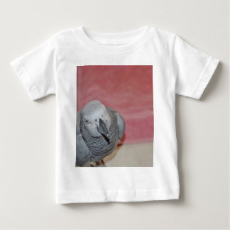 Pink and Gray African Grey Parrot Tee Shirts