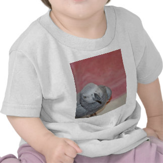 Pink and Gray African Grey Parrot Tees