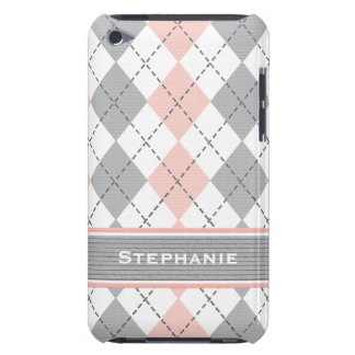 Pink and Gray Argyle iPod Touch 4g Case Cover iPod Touch Covers