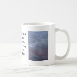 Pink and Gray Cloud Photo before Storm Coffee Mugs