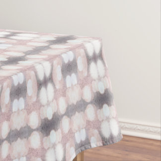 Pink And Gray Glitter Looking Pattern Tablecloth
