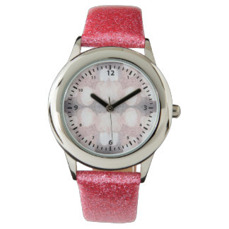 Pink And Gray Glitter Looking Pattern Watch