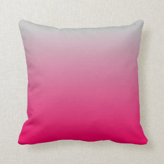 Pink and Gray Gradient Cushion
