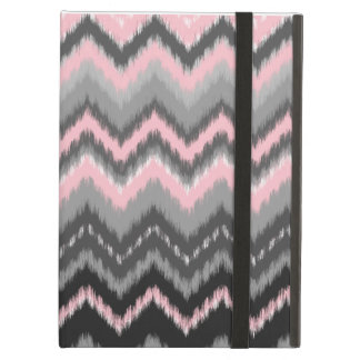 Pink and Gray Ikat Chevron Cover For iPad Air