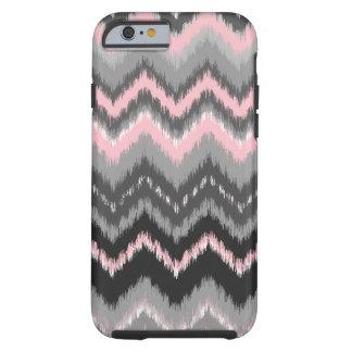 Pink and Gray Ikat Chevron Tough iPhone 6 Case