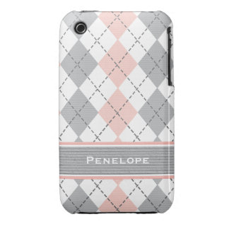 Pink and Gray iPhone 3g 3gs Case Mate Cover