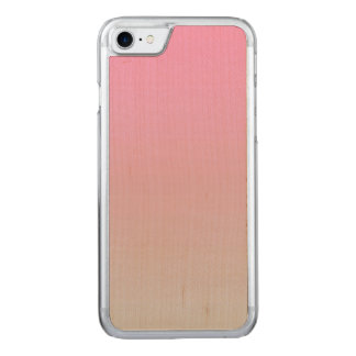 Pink And Gray Maple Wood Carved iPhone 8/7 Case