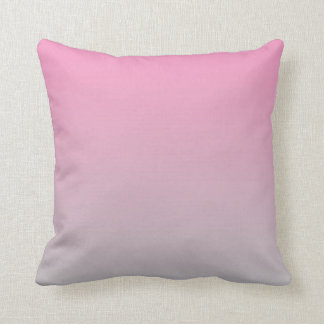 """Pink And Gray Ombre"" Cushion"