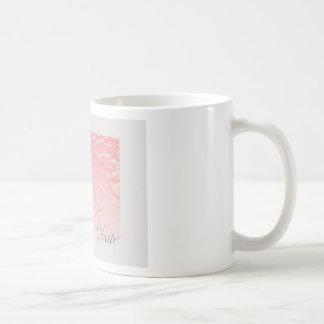 Pink and Gray Save The Date  Rose Edwardian Basic White Mug