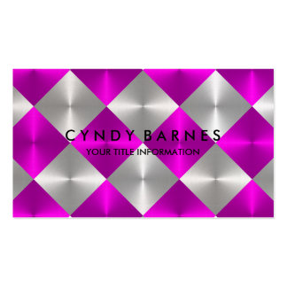 Pink and Gray Tiles Business Card