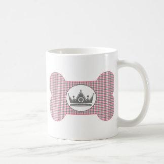 Pink and Gray with Gray Crown.png Basic White Mug