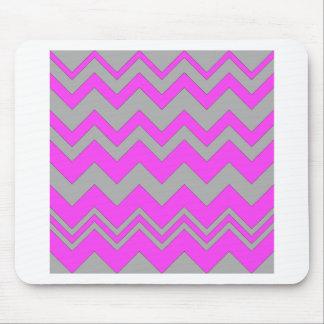 Pink and Gray ZigZag Chevron Mousepad
