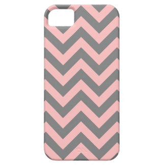 Pink and Gray Zigzag iPhone 5 Cases