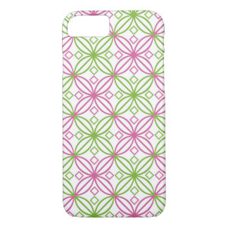 Pink and green abstract circles pattern iPhone 8/7 case
