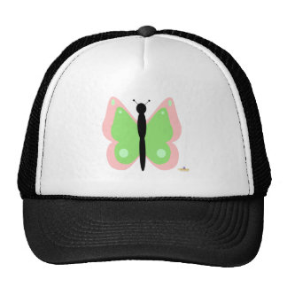 Pink And Green Butterfly Cap