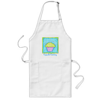 Pink and Green Cupcake Apron Business Personalized
